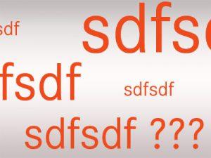 Was ist die Buchstabenfolge sdfsdf?